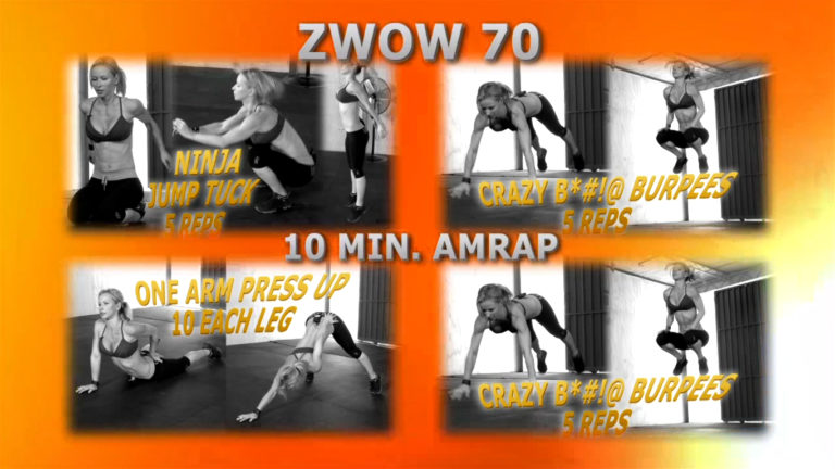 ZWOW #70 AMRAP – Crazy B Workout