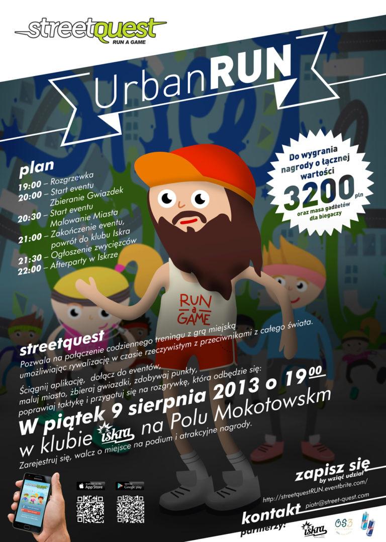 Streetquest Urban Run już 9 sierpnia w Warszawie!