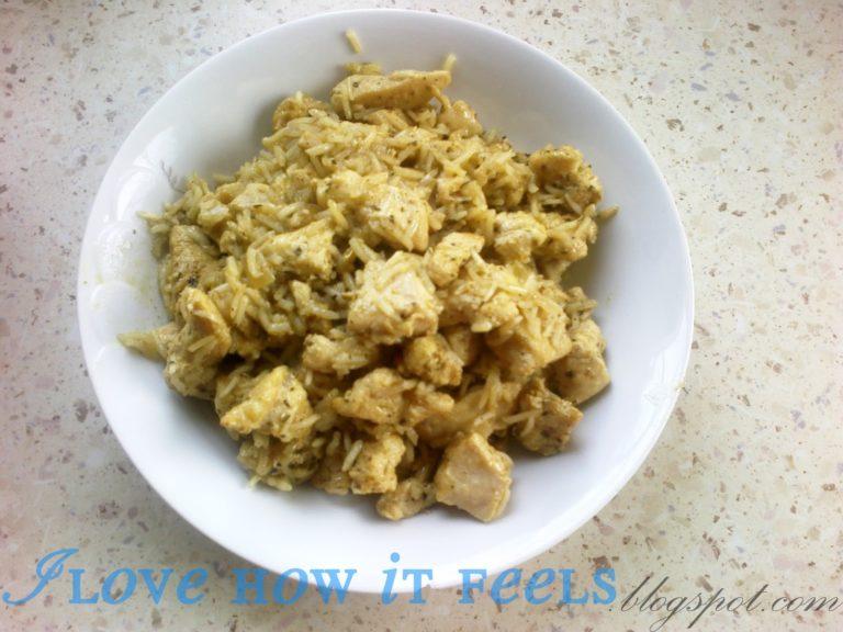 Risotto z curry i kurczakiem