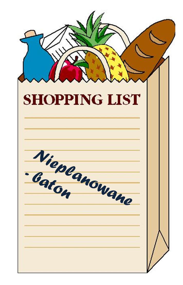 Moja lista zakupów – produkty spożywcze