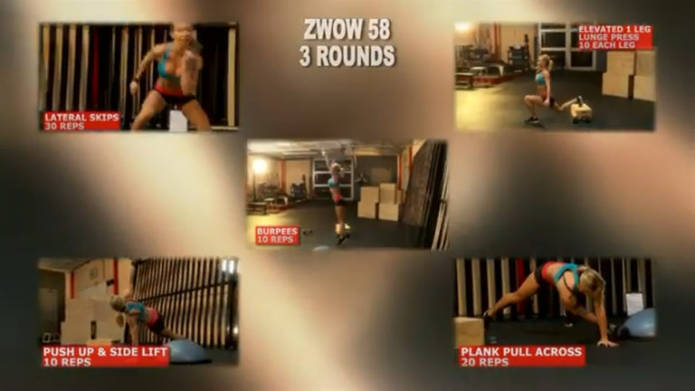 ZWOW #58 Time Challenge – ABS and six pack cross body workout