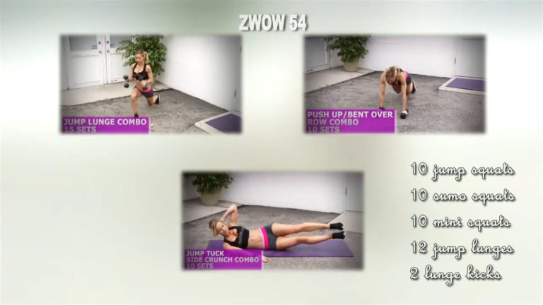 ZWOW #54 Time Challenge – HIIT for legs and butt