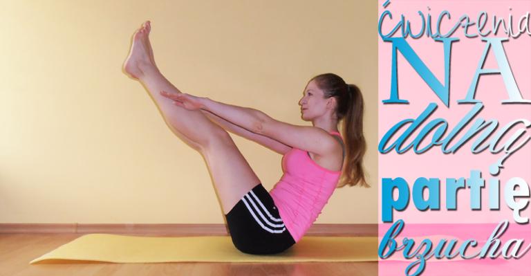 Ćwiczenia na dolną partię brzucha [GIFy]