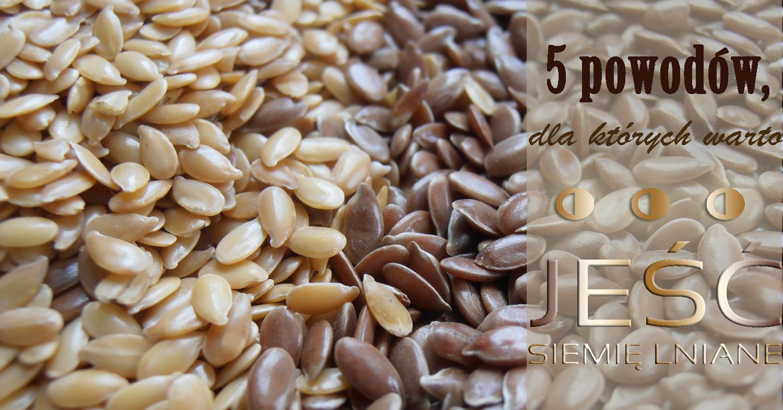 5 powodów, dla których warto… jeść siemię lniane