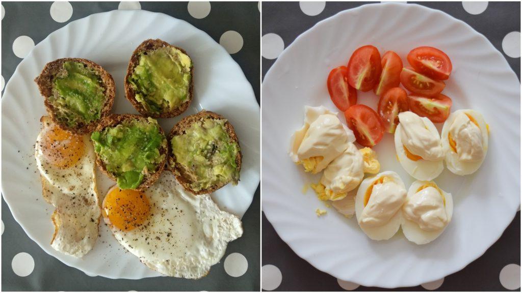 śniadanie białkowo-tłuszczowe jajka avocado